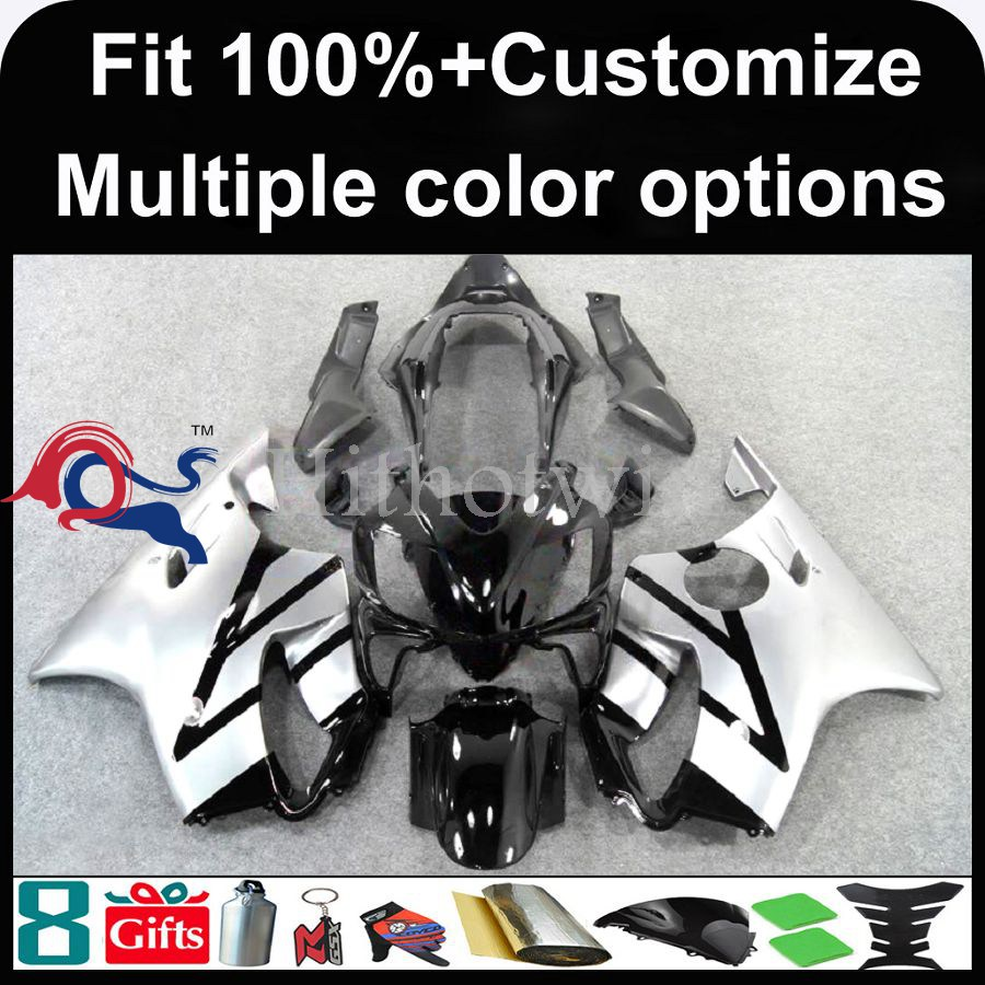 INJECTION MOLDING panels 2004 2005 2006 2007 CBR600 F4i silver black For HONDA CBR600-F4i Fairing Bodywork Fit CBR600F4I CBR600