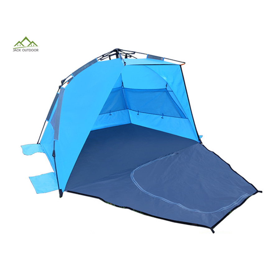 Raise in seconds cheap cabana pop-up sun shelter pop up beach tent for kids & family
