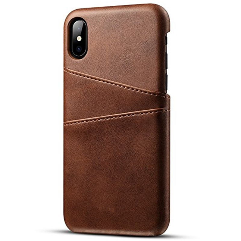 Wallet Phone Case, Slim PU Leather Back Case Cover With Credit Card Holder for iphone X