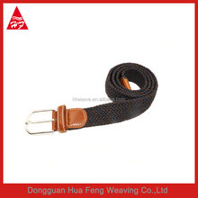 Hot sale new fashion top-end leather alloy material buckle woven belt for men