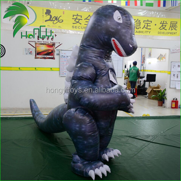 Inflatable Giant Dragon Animal Suit / Double Layer PVC Air Godzilla Costume / Inflatable Dragon Costume