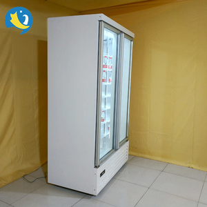 Europe standard self-contained drinks display 4 sliding glass door showcase cooler fridge refrigerated showcase