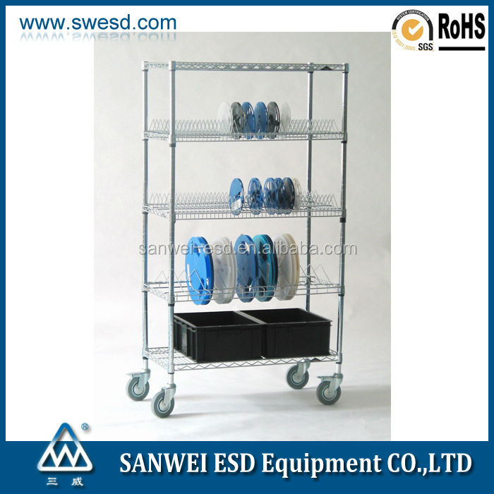 smt reel storage esd carts for circulation boxes