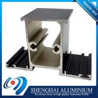 Favorable price powder coated top aluminium rail profile for South Africa market