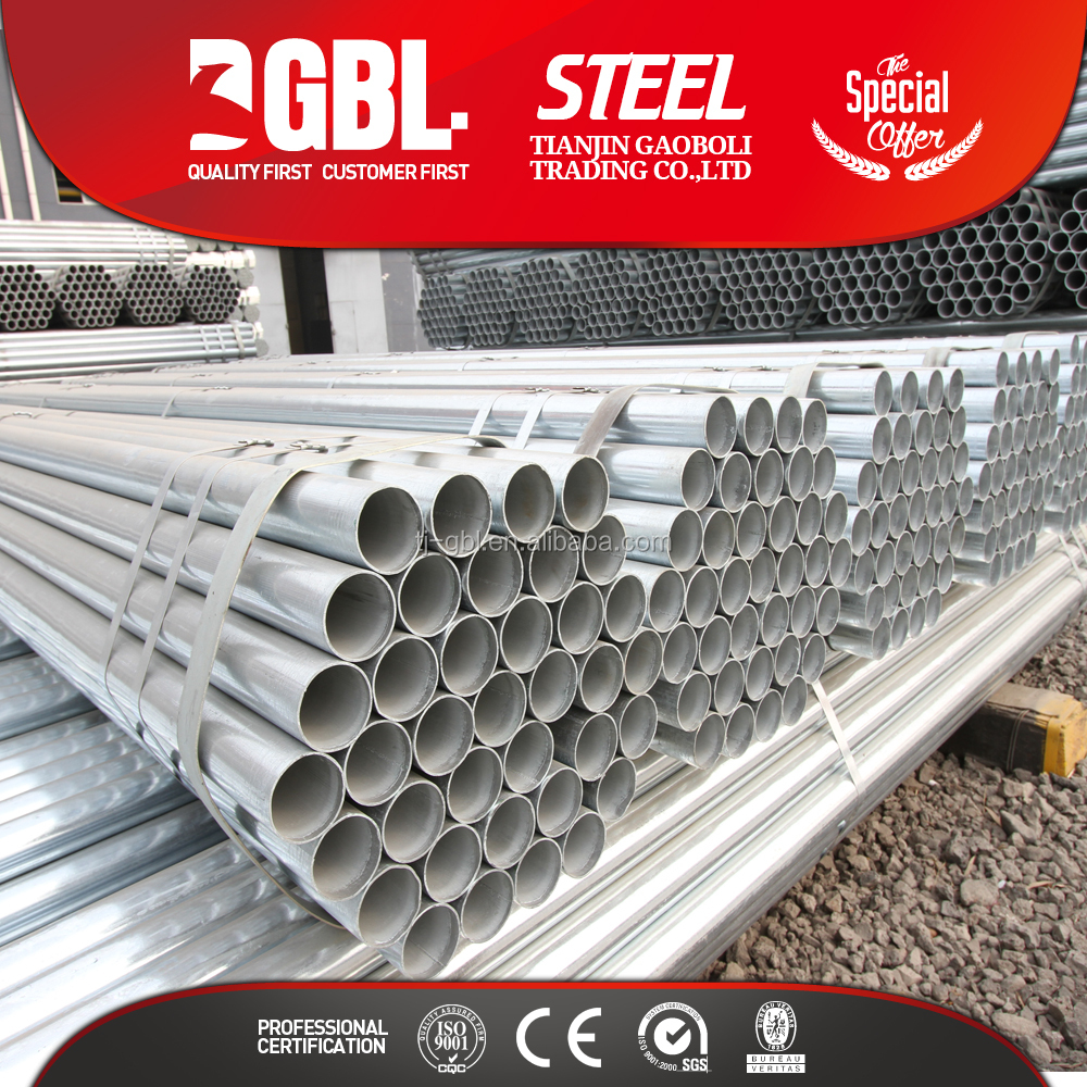 Greenhouse pipe BS1387 ERW hot dipped galvanized steel gi pipe