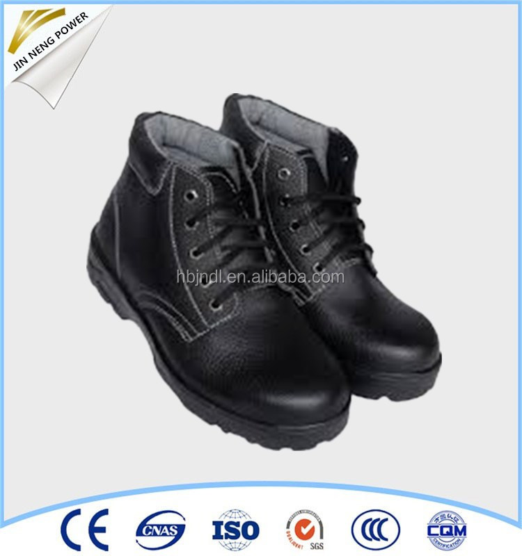 Rubber sole steel toe workmans safety shoes