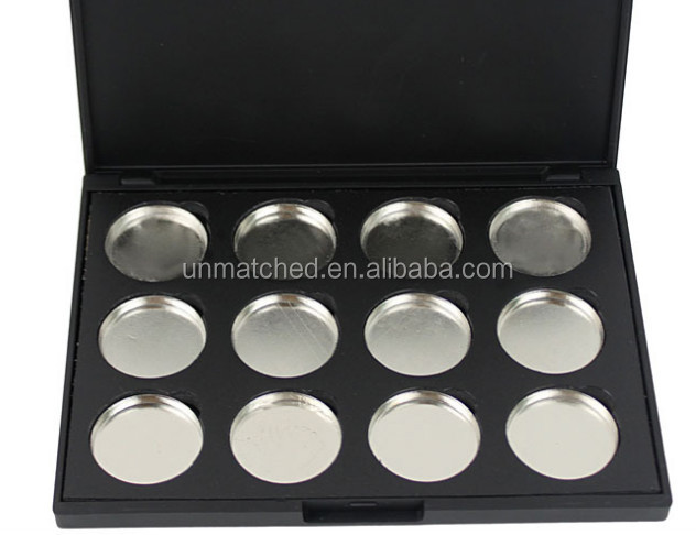 Special wholesale supply 12colors empty palette for eyeshadow or for lip stick cream as you want can be OEM