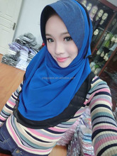 Plain One Piece Hijab Scarf one Colour Muslim shawl