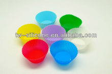 Wholesale recycling petal silicone cake cup heart and round cake cup