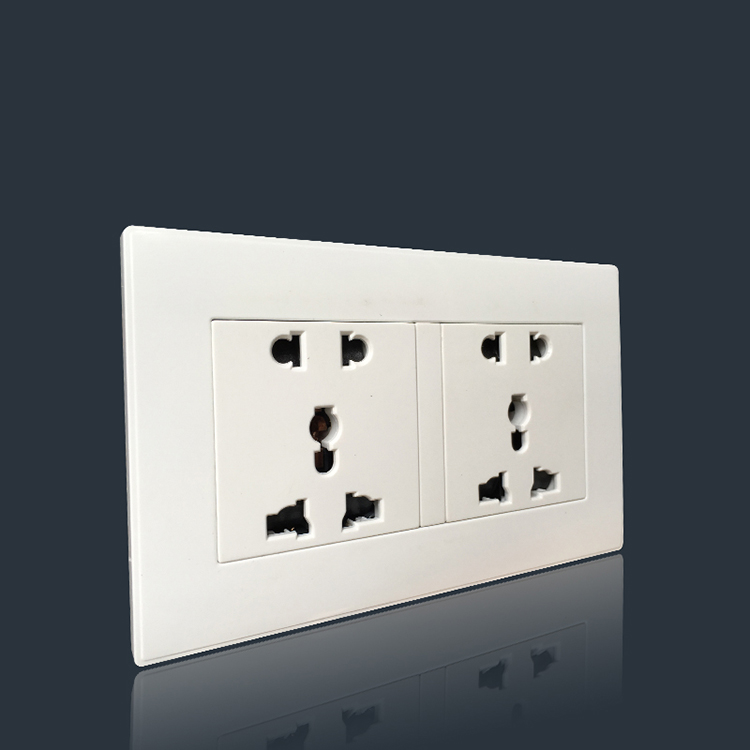 Best popular power industrial 2 gang 3&2pin plug wall socket for popular