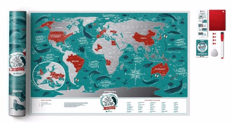 Scratch Off World Map Travel Map Great Scratchable Map Gift For Any Traveler