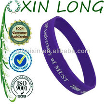 2013 popular silicone rubber bracelets for teenager