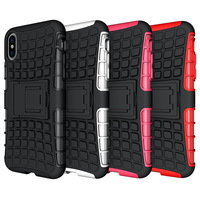 Made in China shockproof cover for iPhone X heavy duty case;strong TPU cover for Apple iPhone X hybrid case