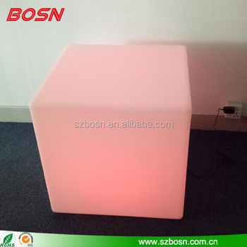 Rechargeable Color Changing LED Cube RGB Stool