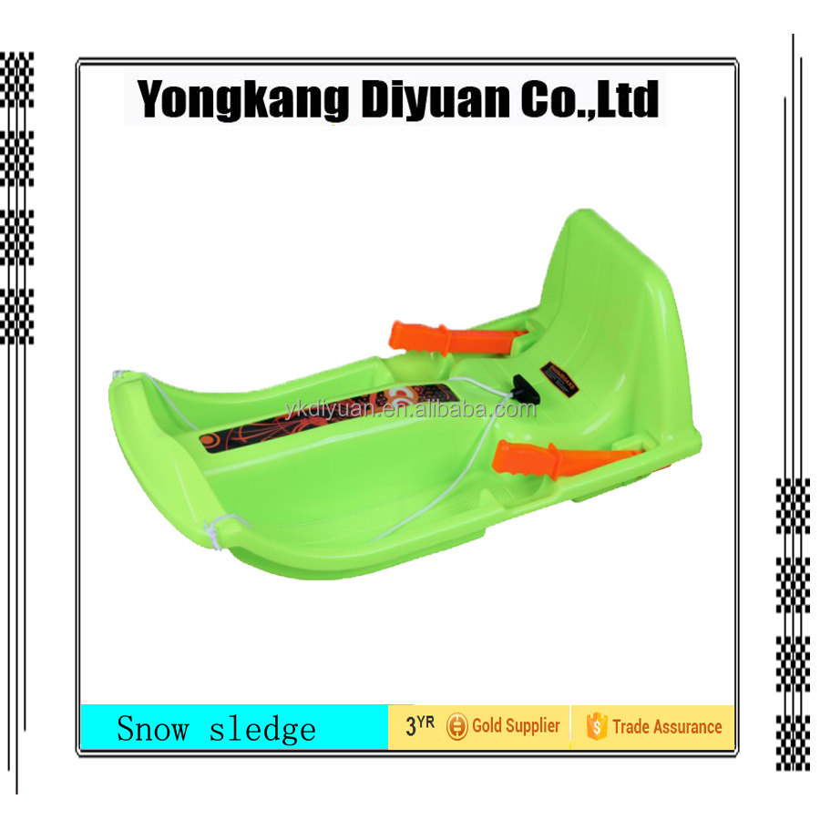 plastic snow sledge for adults/grass slide sledge/snow