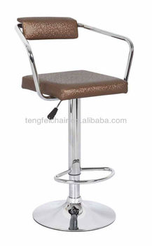 New PU bar chair with chroming base/ 360 degree and height adjustable/ all color TF-1025