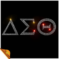 High Quality Delta Sigma Theta Heat Rhinestone Transfer Design