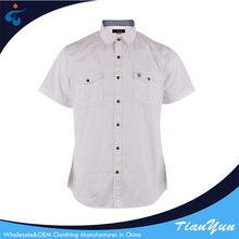 Top quality custom solid color breathable new shirt models