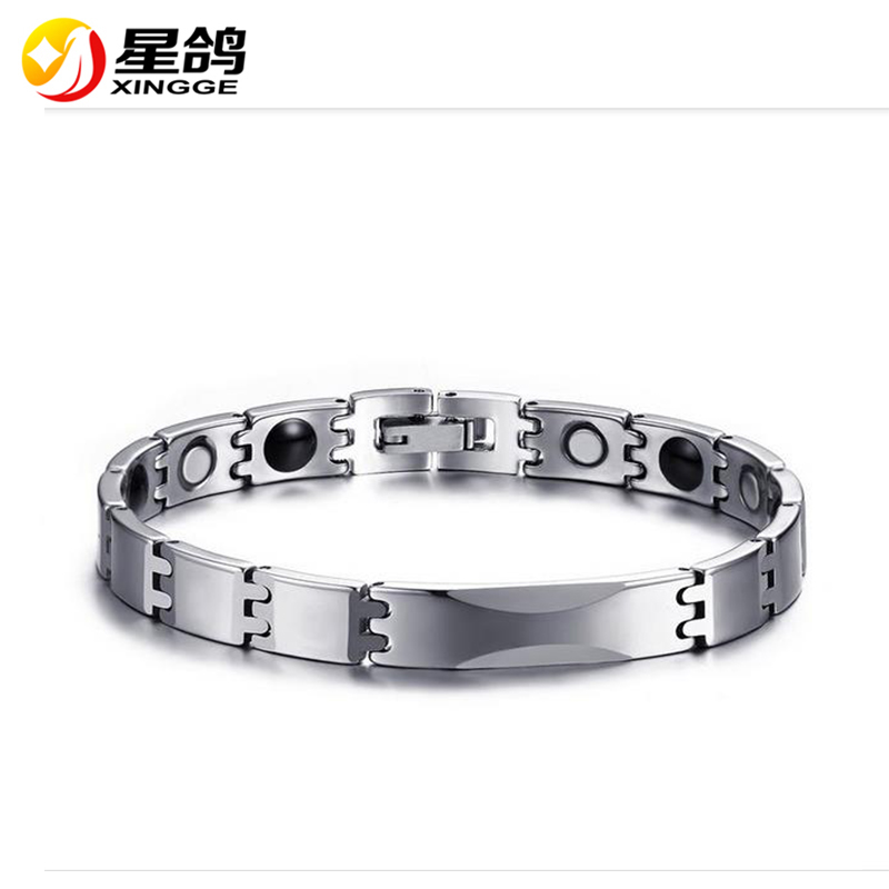 New Arrival Womens Men Tungsten steel Bracelet Classical Metal Link Chain Magnetic Heathy Bracelets Jewelry For Energy Bangle