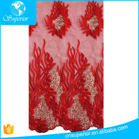 SPR-L050 New Arrival African Lace Embroidery Fabric For Wedding Dress Mesh Lace Fabric