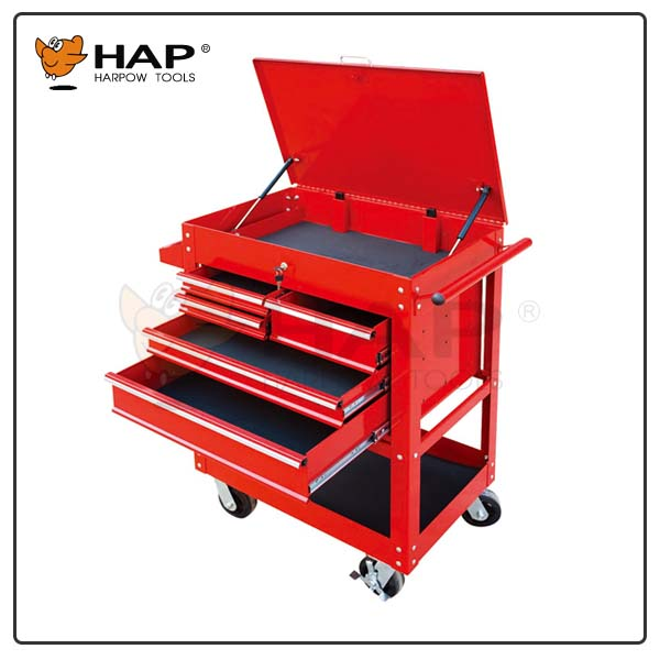 2016 New design 5 drawers tool cart with roller