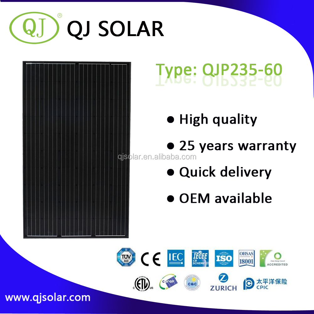High quality grade A factory price polycrystalline PV 235W solar panel