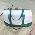 large 20 inch green and white Mummy Bag
