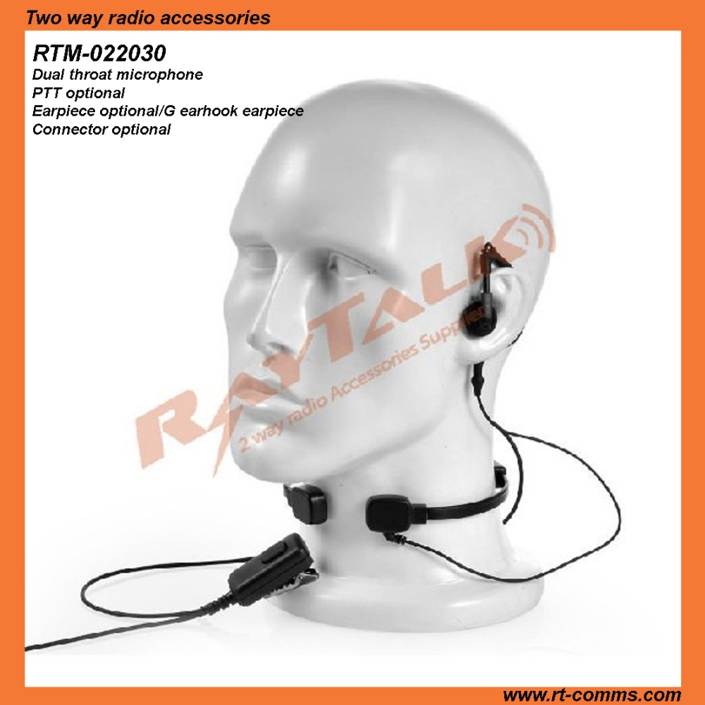 Neckband microphone headset throat activated microphone for XTS1500
