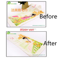 Sex Color changing with water pigment printed cotton face towel Cotton Hand Towel Beautiful Women in ancient China GVFR05