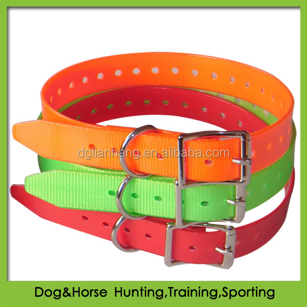 Waterproof TPU beeper dog collar with zinc alloy metal buckle 24inches
