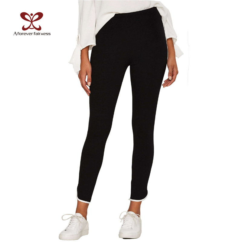 A Forever Fairnes 220GSM 95%Polyester 5%spandex Black Ladies Track Pants