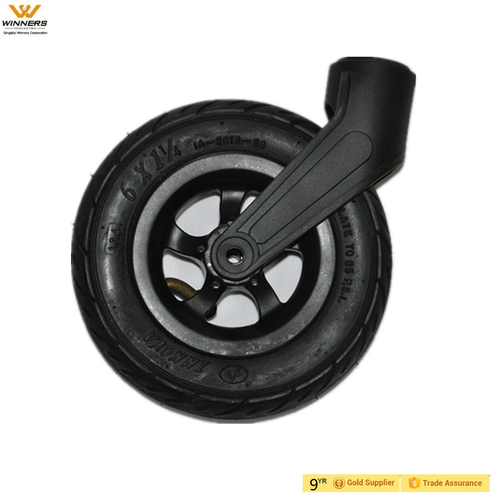 6 inch small air rubber pneumatic wheels