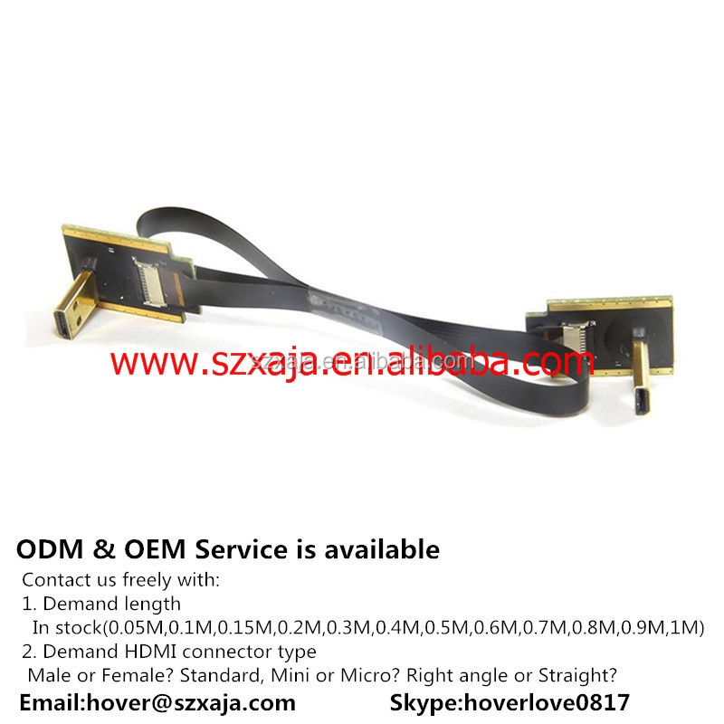 FPV mini 90 degree A Male to HDMI Male HDTV FPC Flat Cable