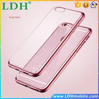 Luxury Ultra Thin Clear Crystal Rubber Plating Electroplating TPU Soft Mobile Phone Case For iPhone 4 5 SE 6 6s Plus Cover bag