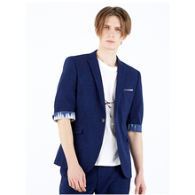 Japanese Style Designer Half Sleeve Fashion Casual Suit For Young Man