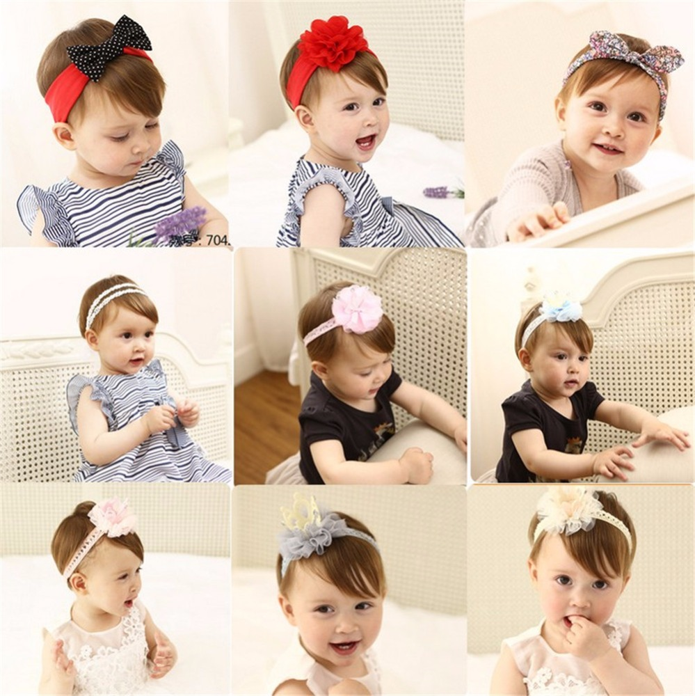 Hot Selling New Born Baby Accessories Lovely Baby Flower Head Bands
