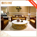 Luxury Italian Metal Ornamental Sofa Set/ Royal Castle Quilting Leather Upholstery Sofa/ European Living Room Furniture