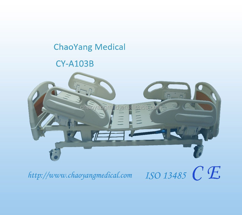 Manufacturer supply luxury three crank hospital manual bed/manual hospital bed/three crank manual hill rom hospital bed CY-A103B