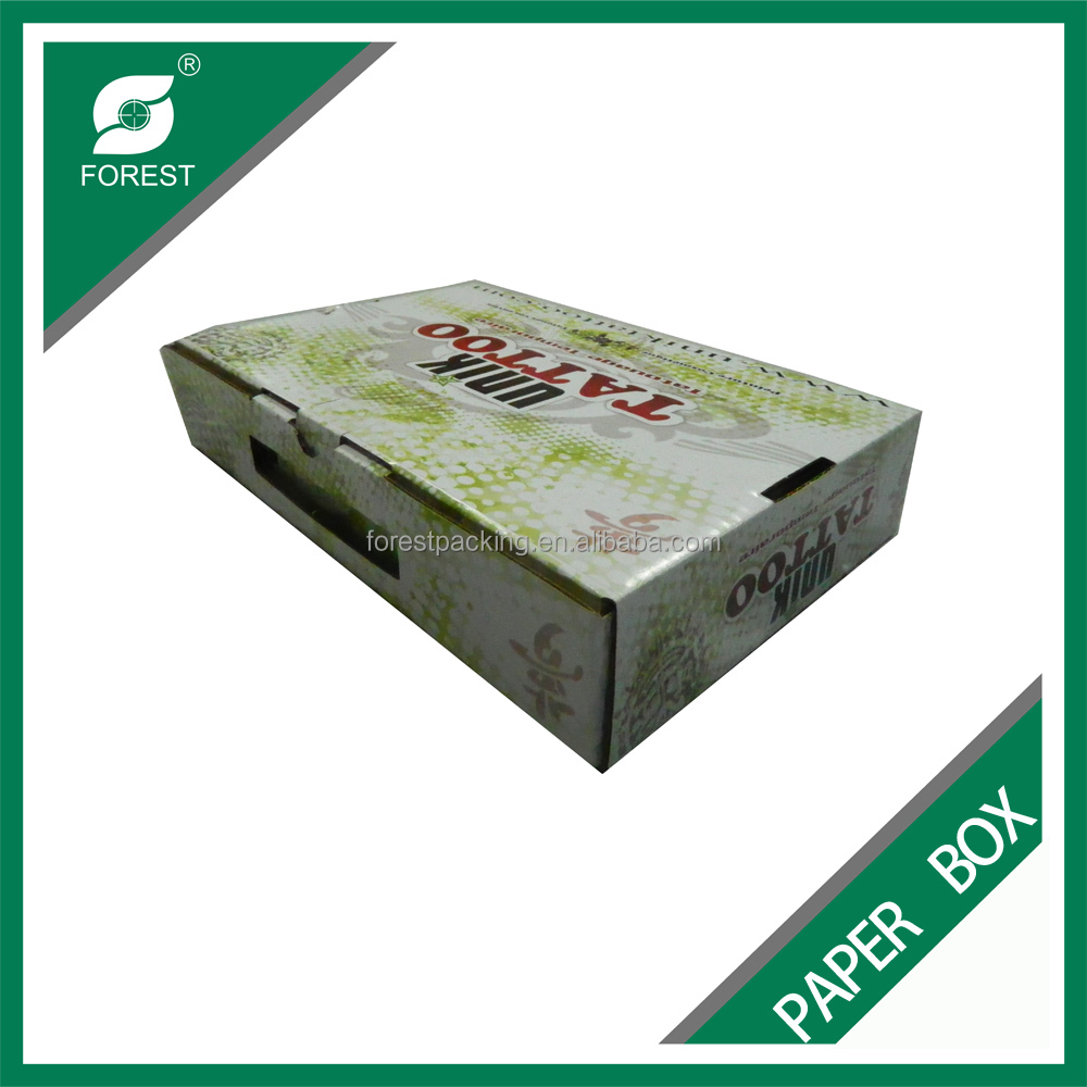 EXCELLENT CUSTOMIZED CORRUGATED PAPER TATTOO PRODUCTS PACKAGING BOX