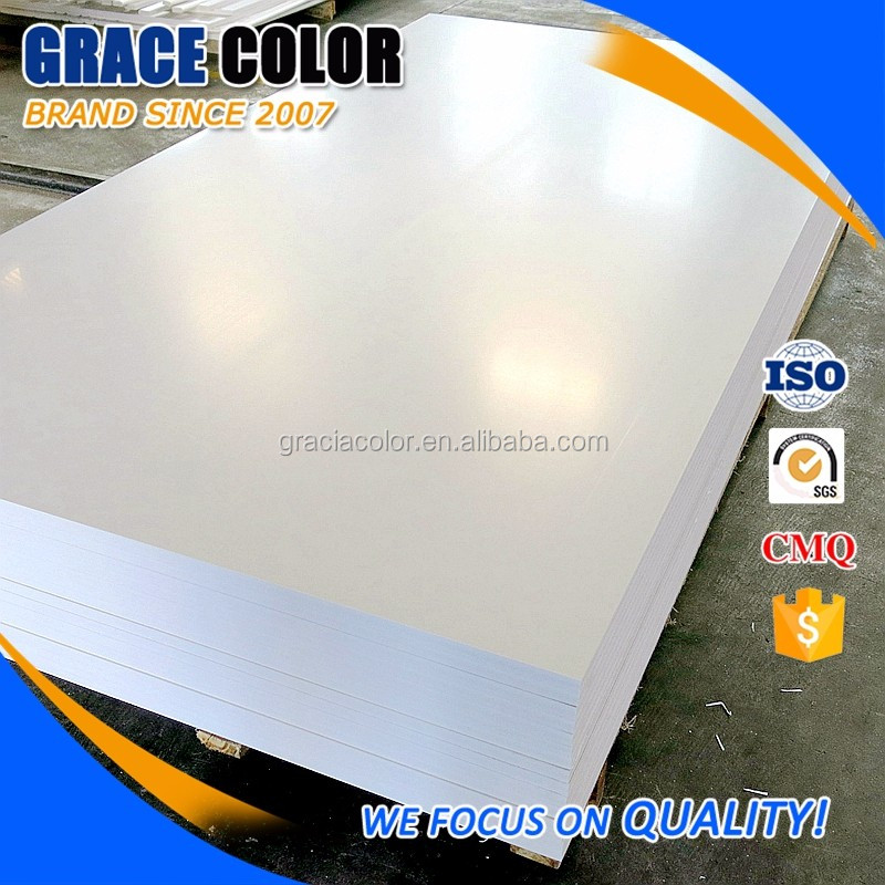 Hard high density 3mm white laser printing pvc sheet/foam board