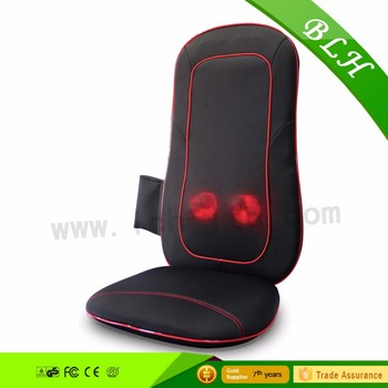 BLH Custom Logo Infrared Vibrating Kneading Rolling Shiatsu back waist care shiatsu massage cushion For Car Seat office