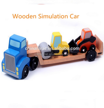 Wooden Simulation Engineering Transport Truck Toy , toys for kids
