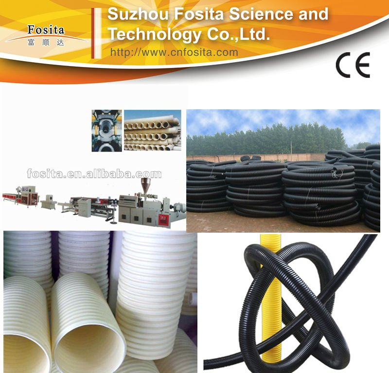 PVC single wall corrugated pipe production line(washing machine drain pipes)