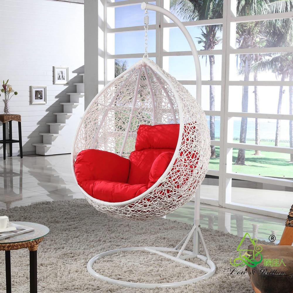 ronde en forme d 39 oeuf rotin en osier balan oire suspendue chaise balan oire id de produit. Black Bedroom Furniture Sets. Home Design Ideas