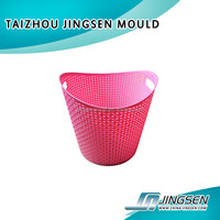 Zhejiang Huangyan OEM Factory laundry basket plastic injection mould/ Injection laundry basket plastic molds supplier
