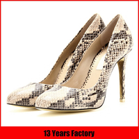 2016 hot sale latest fashion high quality elegant exquisite sexy stylish high heel woman fashion snake skin shoes