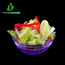 2017 hot style round without lid reusable clear plastic food freeze bowl