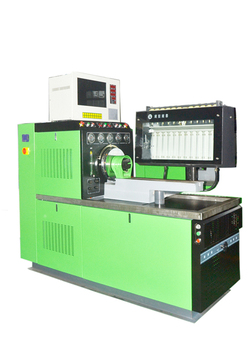 Conventional injection pump test bench with rack travel function optional