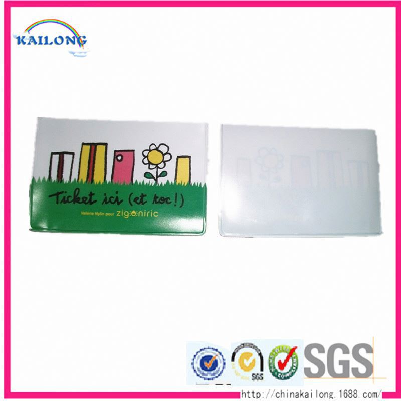 Cheap Custom Metro Soft Pvc School Transparent Credit Card Holder
