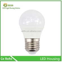 High quality cheap price 5w led bulb light housing white color die cast bulb case (no chip )